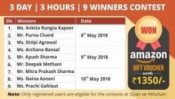 3 Day   3 Hours   9 Winners